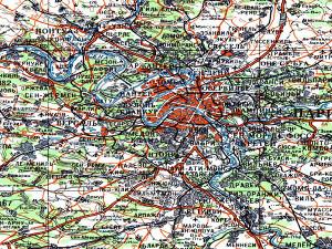 地形図サンプル(フランス・パリ)
